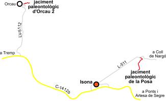 Accés als jaciments paleontològics de la Posa i Orcau 2.